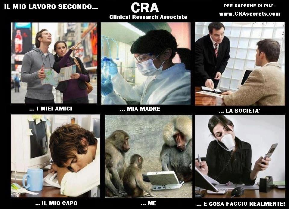 Clinical research associate la professione del cra for Cra research